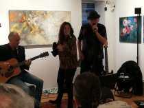 Músicos en la inauguración